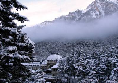 Estación con nieve
